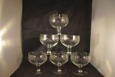 STUNNING VINTAGE X6 ETCHED SHERBERT CHAMPAGNE SAUCERS WINE MARTINI GLASSES