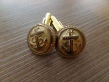 Boutons manchette Cufflink 20 mm Collection TROUPES MARINE COLONIALE MILITAIRE
