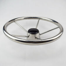 Spiffy 13-1/2'' Boat steering Wheel Stainless Steel 5 Spoke 25° Mirror Polished