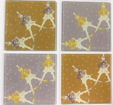 RADIO CITY Rockettes Glass Coasters - Archive collection  (set of 4)