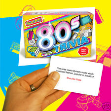 1980's Awesome Trivia Card Game (100 Questions)