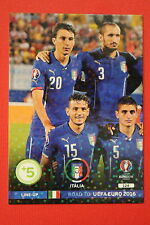 ADRENALYN ROAD TO UEFA EURO 2016 LINE-UP ITALIA 124  MINT!!!!