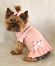 XXXS Baby Pink T Shirt Dog Dress clothes pet apparel Clothing teacup PC Dog®