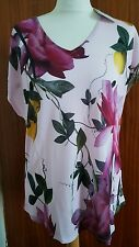 TED BAKER Synthia Citrus Bloom Jersey Top Size 3 UK 12 t-shirt tee new current
