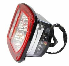 Bright Red Jeep TJ CJ YJ JK Replacement Tail Light with LED's Illuminator left