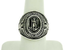 Virginia Military Institute Sterling Silver Ring Size - 8.5