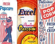 16 Excel Premium Delicious Popcorn VTG Original Country Store Movie Pop Corn Bag