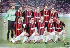AC MILAN 2010 ASIAN SOCCER POSTER - Team Members on Pitch,Silva,Ronaldinho,Villa