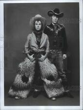 1980 Press Photo It's the rough riding' duo of Lenny and Squiggy  - mjb35845