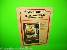 H 12 VENDOR By WURLITZER ORIGINAL COFFEE BEVERAGE VENDING MACHINE SALES FLYER