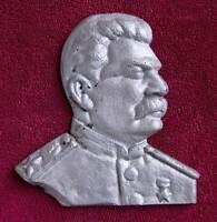 """6.7"""" Cast STALIN Bust Metal Desktop PLAQUE CCCP Soviet Russian Communist USSR"""