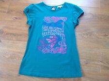Ladies Green Papaya T-Shirt with Festival Print Design Size 12