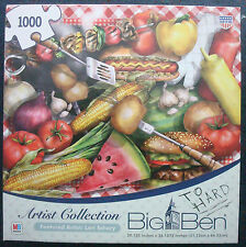 jigsaw puzzle 1000 pc BIG BEN Lori Schory Artist Collection 4th of July BBQ