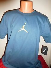 "NIKE AIR JORDAN ""FRONT COURT CENTER 23/7 JUMPMAN"" FLIGHT T SHIRT BLUE GOLD 3XL"