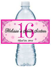 20 SWEET 16 SIXTEEN BIRTHDAY PARTY FAVORS ~ WATER BOTTLE LABELS