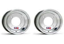 "DWT .190 Polished ATV Front Wheels Rims PAIR 10"" 10X6  4+2 Honda 450R 400EX 250R"