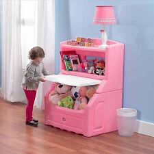 Toy Storage Box Chest Bin Large Organizer Kids Bedroom Furniture Bookcase Pink
