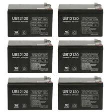 UPG 6 Pack - 12v 12Ah 12 volt 12 Amp-hr SLA AGM Sealed Lead Acid Batteries NEW
