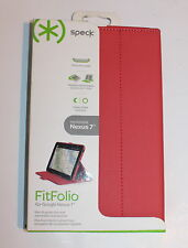 SPECK FITFOLIO CASE FOR  GOOGLE NEXUS 7 - CORAL PINK - NEW
