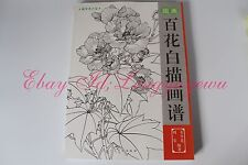 Chinese Brush Painting Sumi-e Hundreds of Flowers Outline Tattoo Reference Book