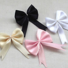 20pcs Satin Ribbon Bows Flowers Wedding Appliques DIY Craft Mix Lots