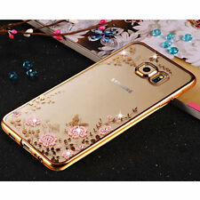 Luxury Electroplating Soft TPU Clear Crystal Case Cover For Samsung Galaxy