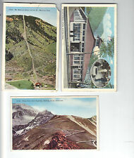 Post Card LOT of 3 Cards - MANITOU SPRING - CO - Pikes Peak - unposted Vintage