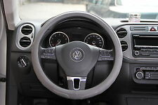 NEW GREY PVC Leather Steering Wheel Cover Acura Audi A4 Integra 38cm non-slip