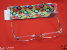 110:NEW Essentials Unisex Compact Reading Eyeglasses+Case-2.50