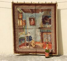 Vintage French Beautiful Scene Needle Point Tapestry 94x90cm (A800)