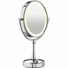 "*Conair BE118 Double-Sided 10x-1x Polished Nickel Lighted 17""H Makeup Mirror"
