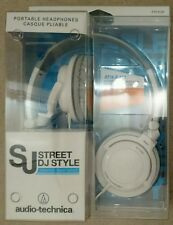 Audio Technica ATH-SJ33WH Headphones Earphones Portable Dj Style White RRP £55