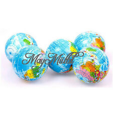 World Map Foam Earth Globe Stress Relief Bouncy Beach Ball Atlas Geography Toy