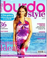 Burda Style UK Magazine 7/2013 City,Summer Party,Lingerie (17 Uncut Patterns)