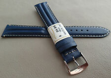 ZRC France Navy Blue Water Resistant 18mm Long Watch Band Chrome Buckle $34.95