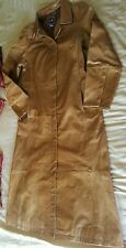GAP LONG BROWN GENUINE LEATHER JACKET COAT  SIZE MEDIUM