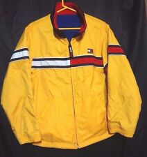 Vintage Tommy Hilfiger 90s reversible jacket nylon/fleece yellow/blue large-xl