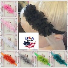 Lot of 16 Newborn Baby Toddler Girls Infant Chiffon Flower Headbands Soft