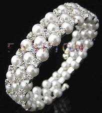 FASHION Korean Style Jewelery Multilayer Pearl Austrian Crystals Nice Bracelet