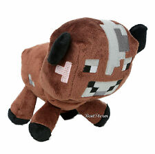 NEW Minecraft Overworld Brown Baby Cow Animal Plush Doll Bean Bag Toy Licensed