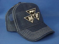 Massey Ferguson Hat - Denim Mesh - Triangle Logo