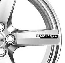 6x Renault Sport Alloy Wheels Decals Stickers Adhesives Premium Quality Megane