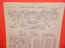 1937 PHILCO AUTO RADIO SERVICE SHOP REPAIR MANUAL MODELS 828 827K