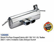 Performance Exhaust Muffler for Smart ForTwo Coupe/Cabrio 451 1.0L
