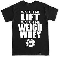 WATCH ME LIFT T SHIRT WORKOUT GYM FITNESS BENCH WHEY BEAST SQUAT NAE NAE SILENTO