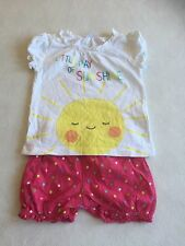 Baby Girls Clothes 3-6 Months - Cute  Outfit T Shirt Top  & Shorts