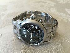 Mont Blanc Montblanc Meisterstuck SS Carbon Dial 7038 Chronograph Chrono  Watch
