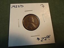 1922D F Lincoln wheat cent, see our store for more coins 1922 D 1922-D