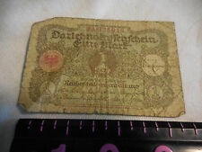 One German Mark Dated 1920 from the Weimar Republic