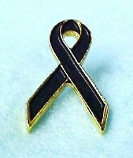 Melanoma Awareness Black Ribbon Lapel Pin Support Skin Cancer New